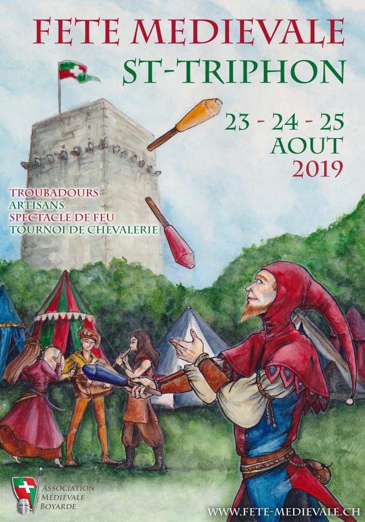 affiche fête médiévale St-triphon